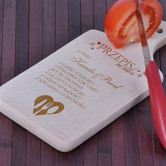 Deska kuchenna z grawerem- Przepis na miłość