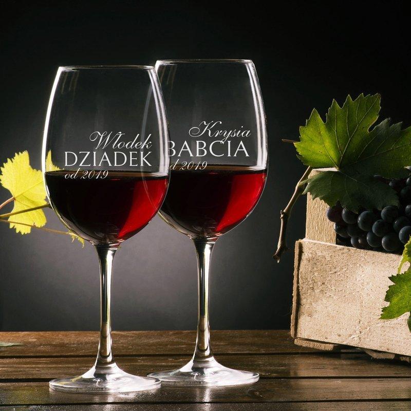 Kieliszki do wina dla dziadków