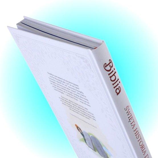 Biblia- Pamiątka I Komunii Świętej- hostia IHS