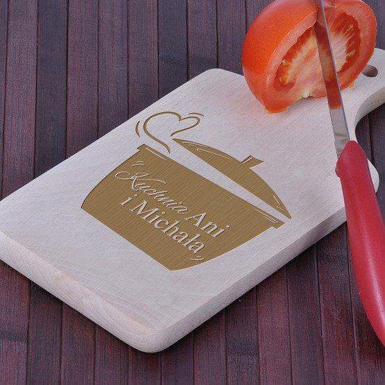 Deska drewniana dla PARY- Garnek z sercem