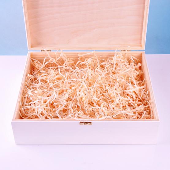 Drewniane pudełko prezentowe - Pamiątka Pierwszej Komunii Św - Gołąbek