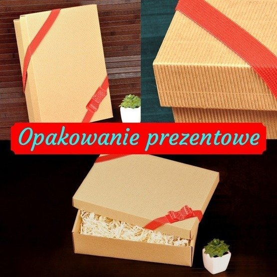 Drewniane pudełko z krówkami - Ramka z kwiatami