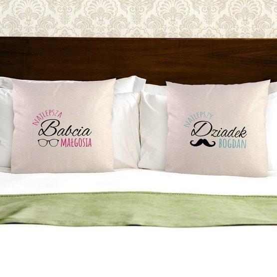 Dwie poduszki dla najlepszych dziadków