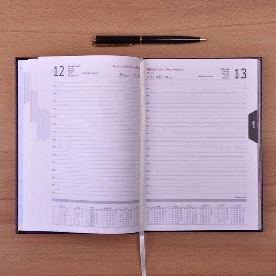 Kalendarz z nadrukiem dla handlowca - mężczyzny
