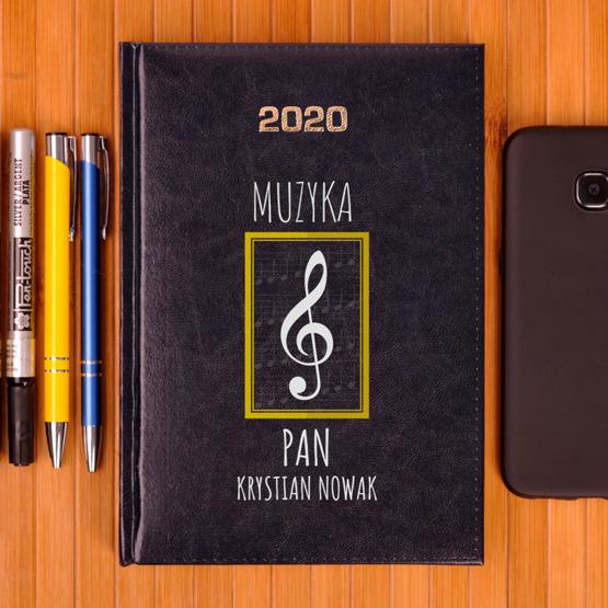 Kalendarz z nadrukiem dla nauczyciela-muzyka