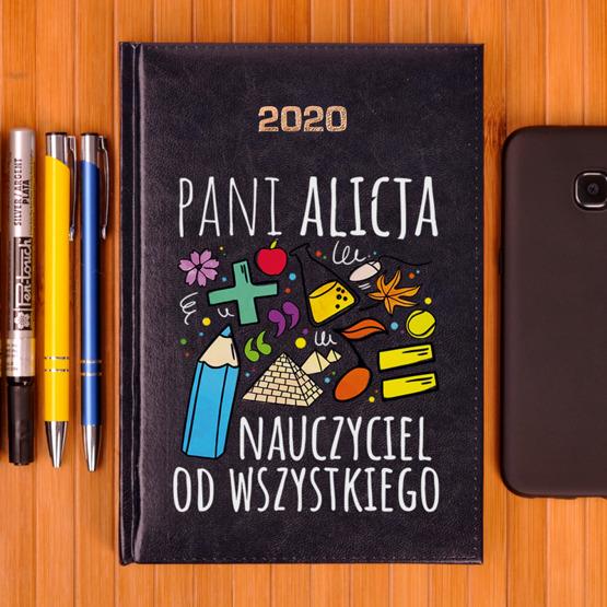 Kalendarz z nadrukiem- dla nauczyciela wspomagającego, przedszkolnego