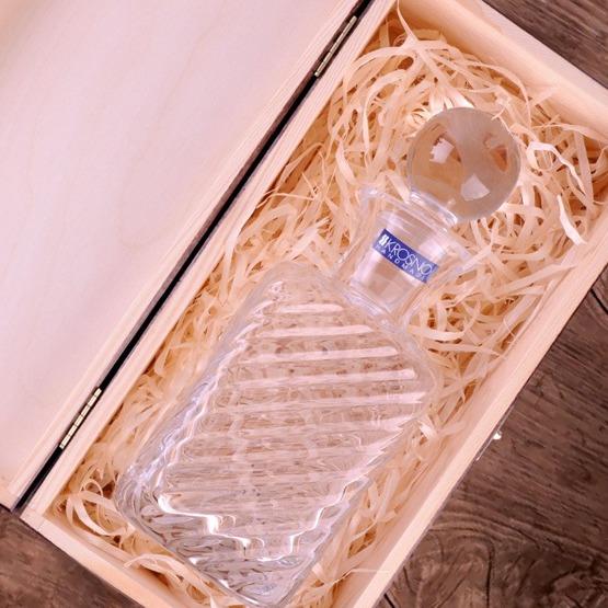 Karafka VITAGE w pudełku drewnianym