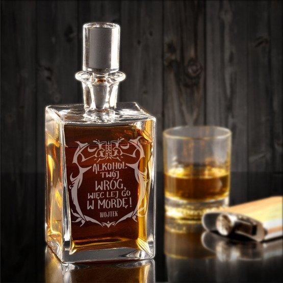 """Karafka do whisky """"Alkohol Twój wróg..."""""""