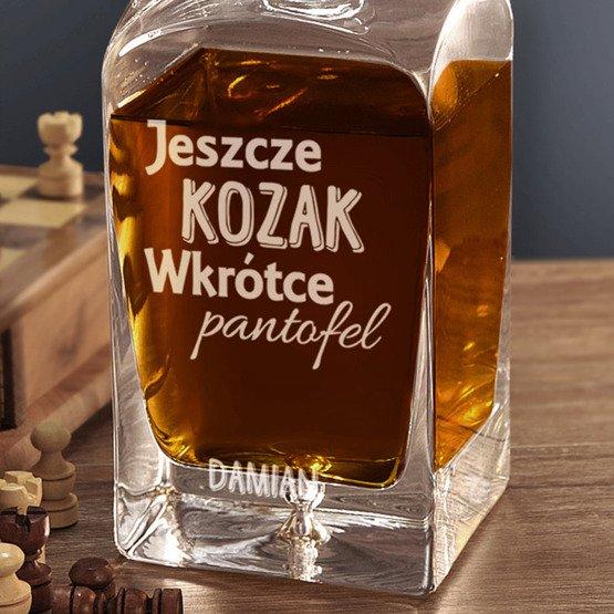 """Karafka do whisky """"Jeszcze kozak..."""""""