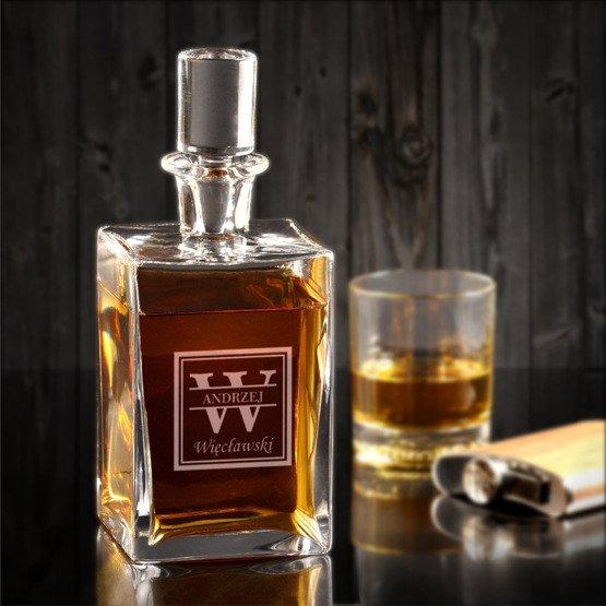Karafka do whisky- Monogram/ imię/ nazwisko