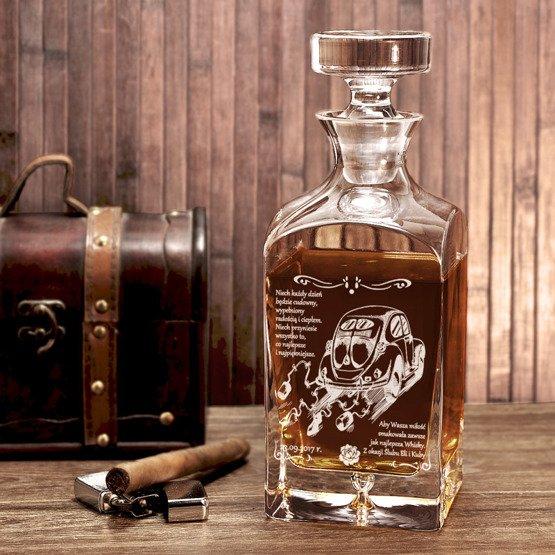 Karafka do whisky- prezent ślubny