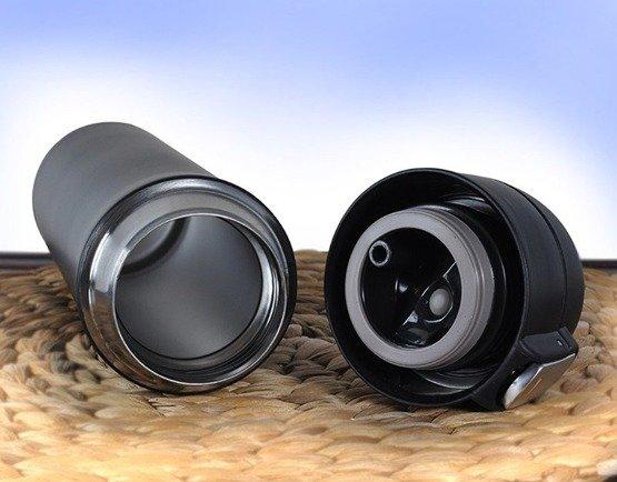 Kubek termiczny 450ml czarny dla wędkarza
