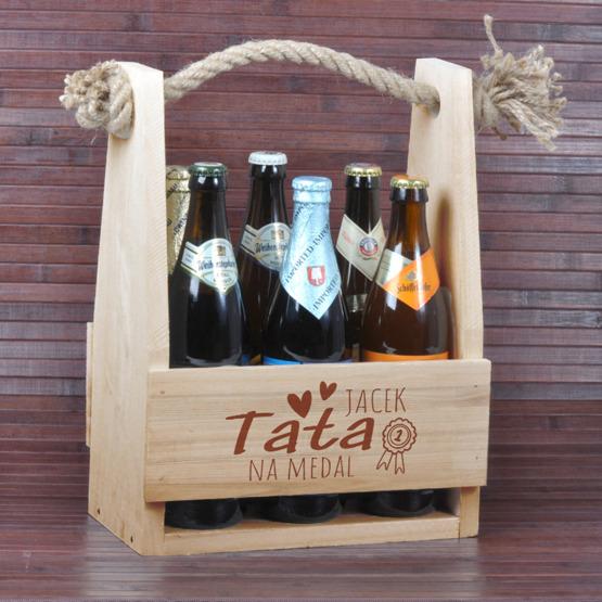 Nosidełko do piwa dla taty - Tata na medal