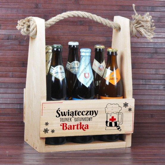 Nosidełko na piwo 'Świąteczny trunek ratunkowy'