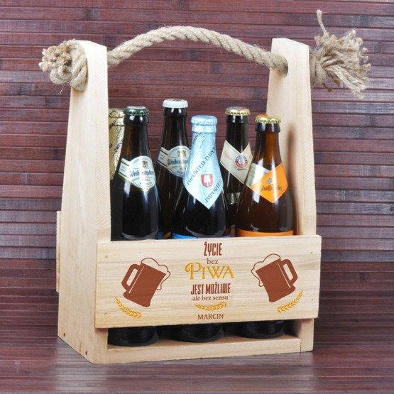 """Nosidełko na piwo """"Życie bez piwa jest możliwe..."""""""