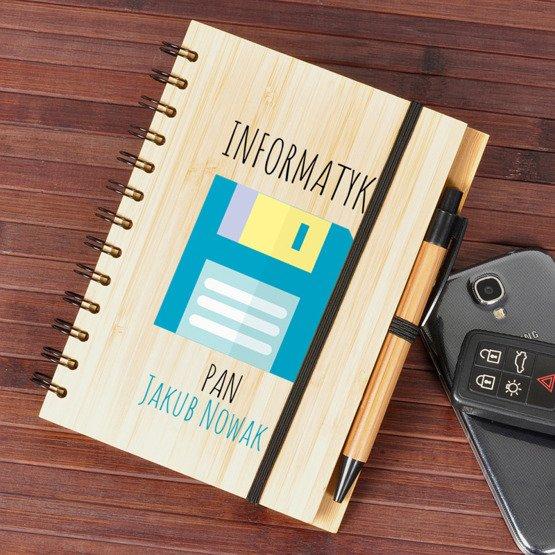 Notes bambusowy dla nauczyciela informatyki