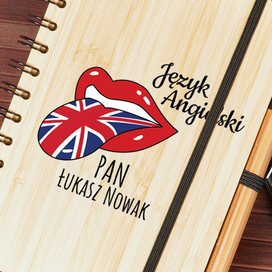Notes bambusowy dla nauczyciela języka angielskiego
