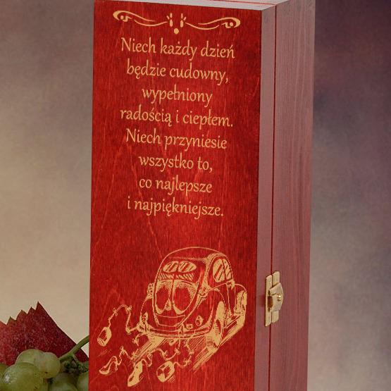 Pudełko na wino- prezent ślubny