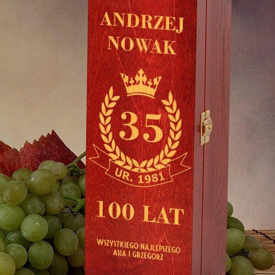 Pudełko na wino- urodzinowe