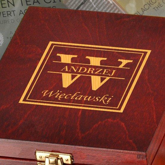 Pudełko z herbatą Lipton- Monogram + imię i nazwisko