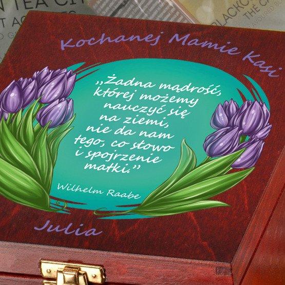 """Pudełko z herbatą- """"Tulipany dla Mamy"""""""