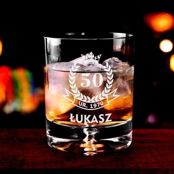 Szklanka do whisky - urodzinowa