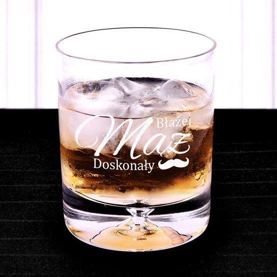 Szklanka do whisky z grawerunkiem laserowym - Mąż doskonały