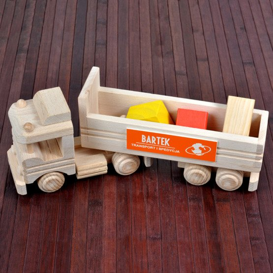 Zabawka drewniana- Tir