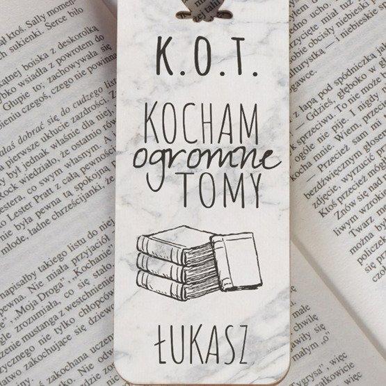 Zakładka do książki z kotem -K.O.T.
