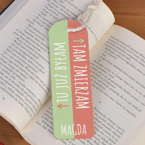 Zakładka do książki ze sznureczkiem- Tam zmierzam