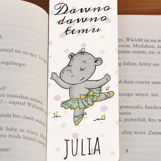 Zakładka do książki ze sznureczkiem dla dziewczynki-Hipciu