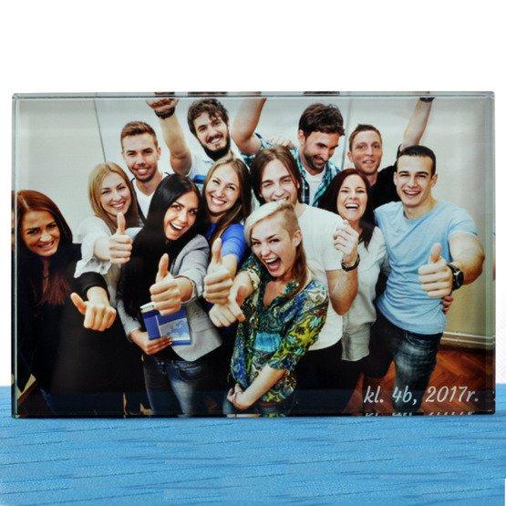 Zdjęcie klasowe na szkle