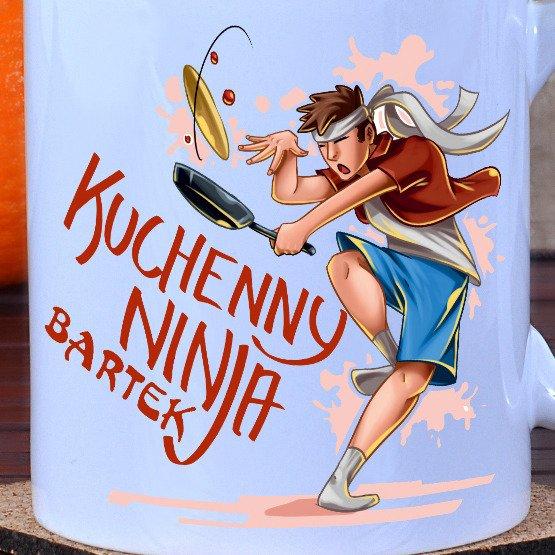 """Zestaw fartuch + kubek """"Kuchenny ninja"""""""