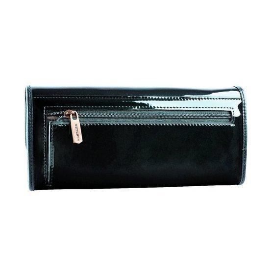 Zestaw prezentowy damski WITTCHEN XIX - ciemnozielony portfel + beżowy szal